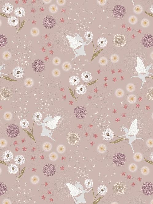 Warm Linen with Silver Metallic - Fairy Clocks