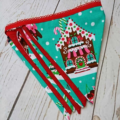 Gingerbread House Bunting - 7 Flags