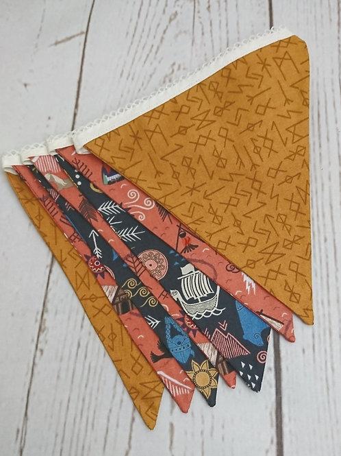 7 Flag Viking Adventure Bunting -Peach