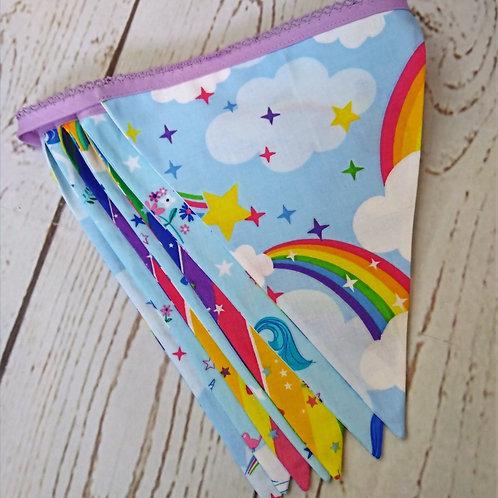 7 Flag Unicorn Bunting - Blue