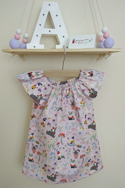 Flutter Dress - Age 2-3 - Jolly Springs on Light Pink