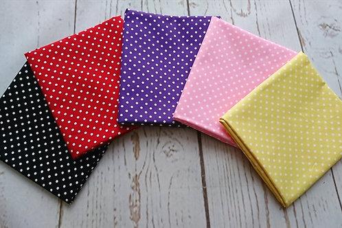 Polka Dot FQ Bundle - 5 Pieces