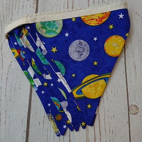 6 Flag Space Themed Bunting