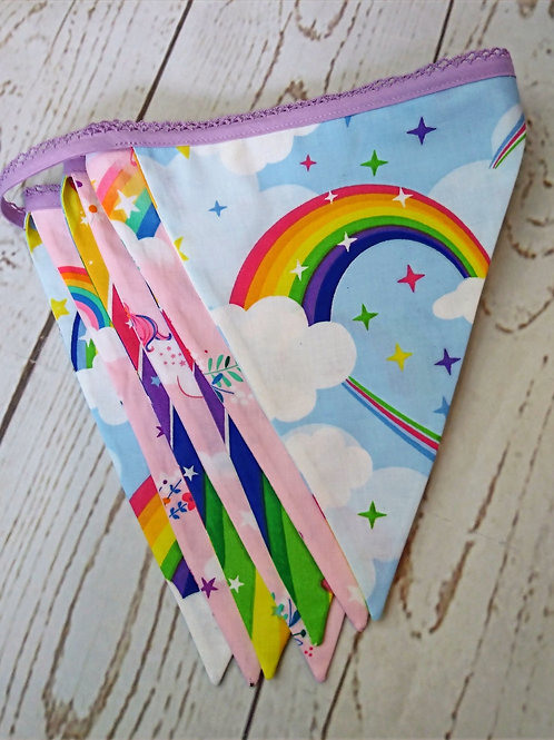 7 Flag Unicorn Bunting - Pink