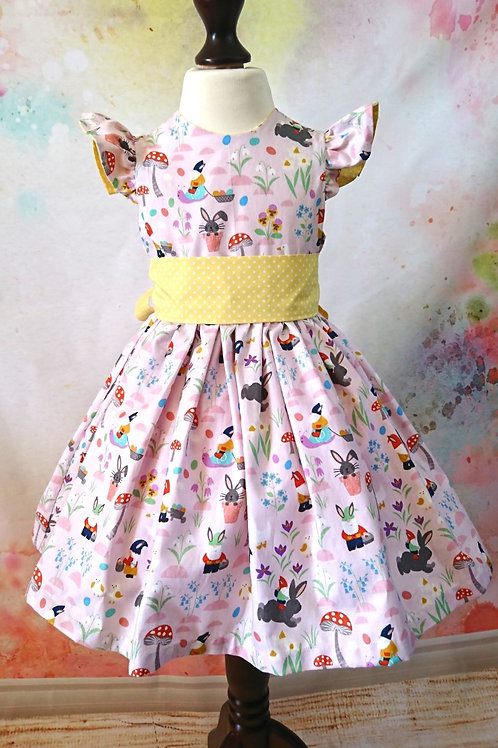 Party Dress - Age 3 - Jolly Egg Hunt on Light Pink
