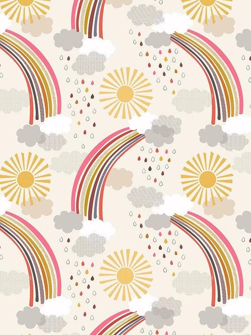 Calming rainbows on cream