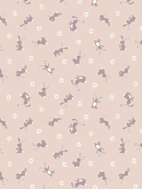 Bunny on Dark Cream - Bunny Hop