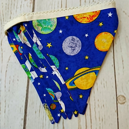 7 Flag Space Themed Bunting