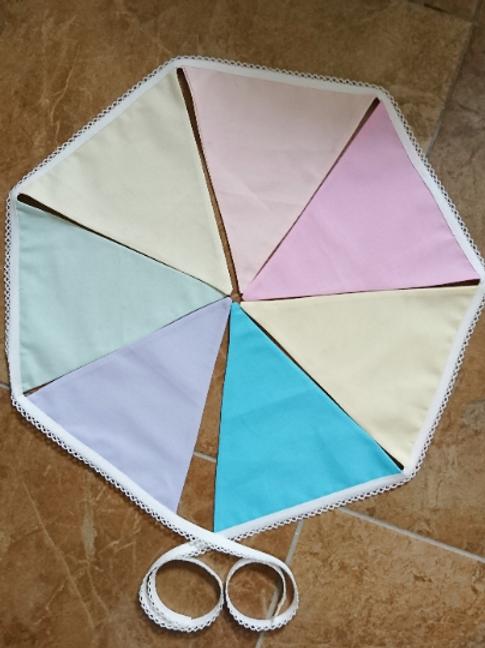7 Flag - Plain Pastels Bunting