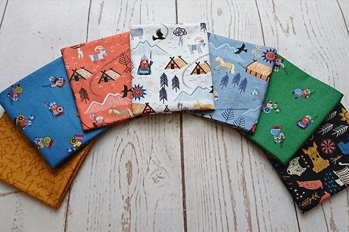 Viking Adventures Fat Quarter Bundle - 7 Fabric Pieces