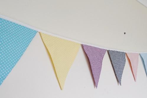 8 Flag Polka Dot Bunting - Pastels
