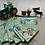 Thumbnail: 7 Flag Tractor Bunting -Spearhead shape -Black binding