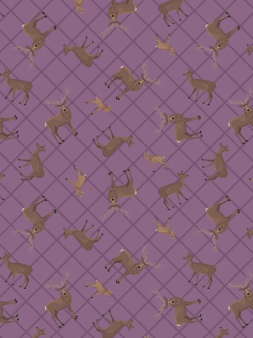 Purple Deer Check - Loch Lewis