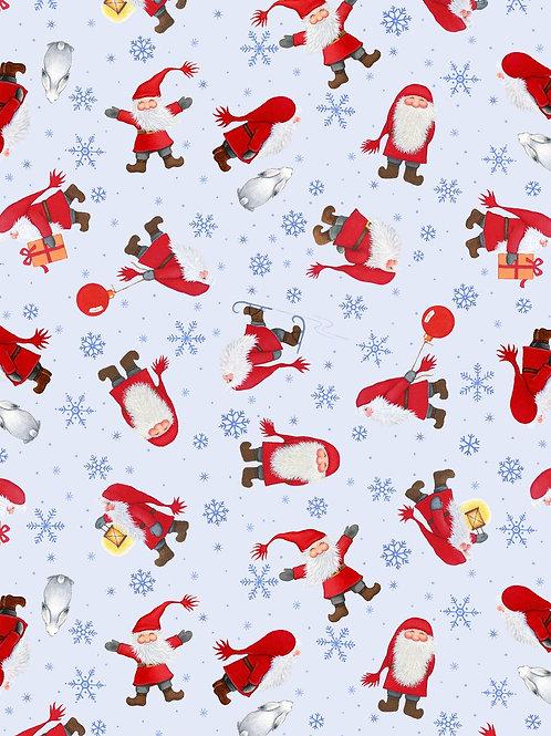 Lewis and Irene - Tomtens Christmas - Multi Tomten on light blue