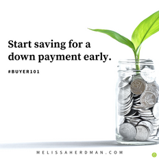Start saving for a down payment early..p
