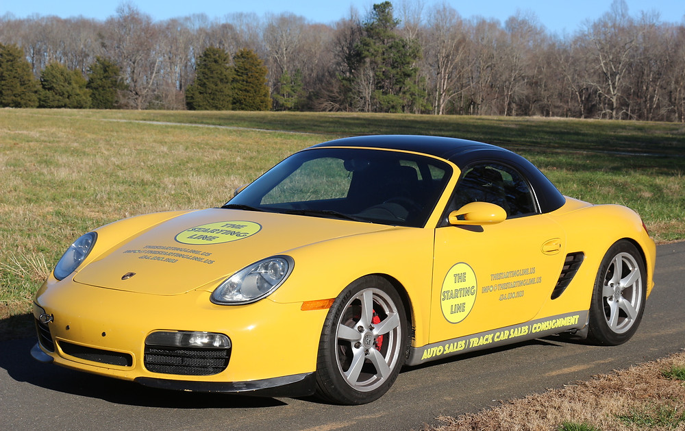 The Starting Line uses this second-gen Boxster S for track demos.