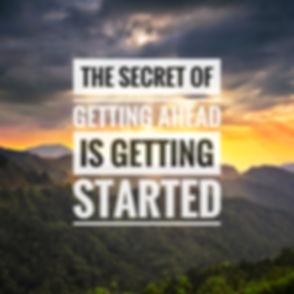 Inspirational success quotes on the moun