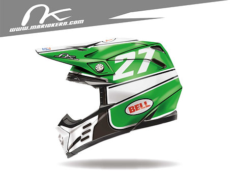 BELL Moto-9 Flex ab 2018- / Green Jet Edition