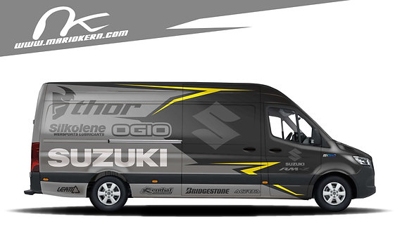 Carwrap SUZUKI black - MB Sprinter / VW Crafter / IVECO Daily