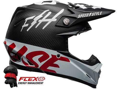 BELL MOTO-9 CARBON FLEX FASTHOUSE / Black/White/Red