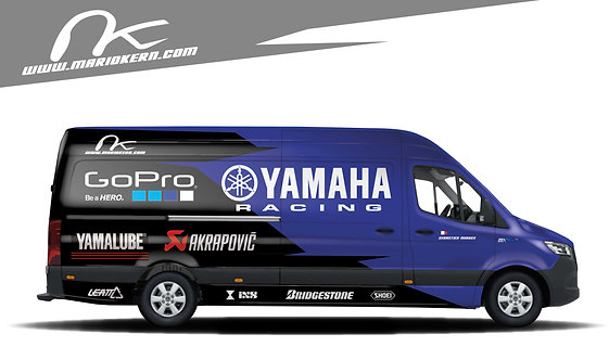 Carwrap YAMAHA blue - MB Sprinter / VW Crafter / IVECO Daily