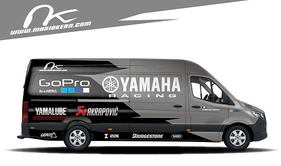 Carwrap YAMAHA black - MB Sprinter / VW Crafter / IVECO Daily