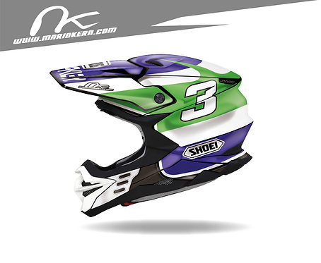 SHOEI VFX-WR ab 2018- / Jeff Ward Jet-Fake Replica Edition
