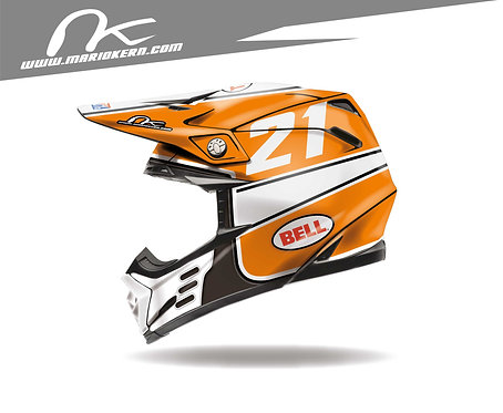 BELL Moto-9 Flex ab 2018- / Orange Jet Edition