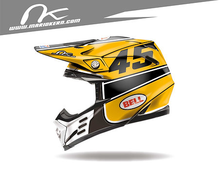 BELL Moto-9 Flex ab 2018- / Yellow Jet Edition