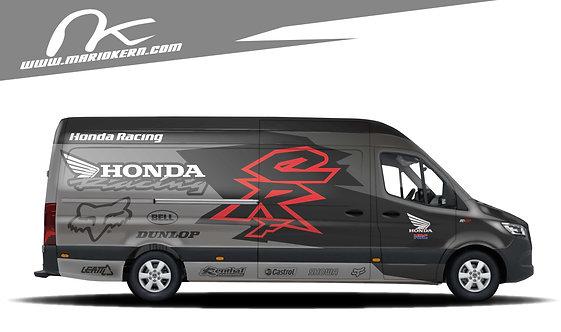 Carwrap HONDA black - MB Sprinter / VW Crafter / IVECO Daily
