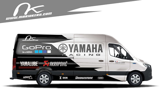 Carwrap YAMAHA white - MB Sprinter / VW Crafter / IVECO Daily
