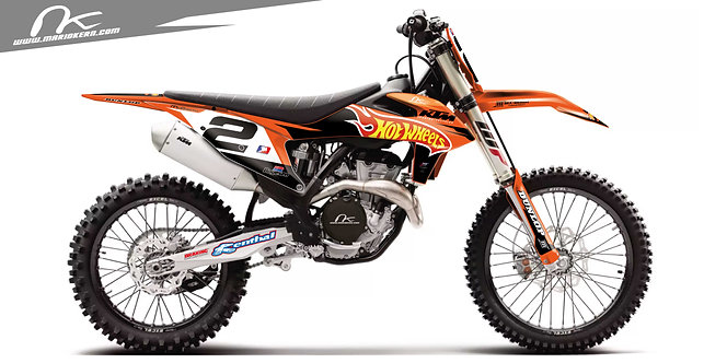 KTM SXF 125-450 ab 2019- / Jeremy McGrath Hotwheels 2003 Replica Edition