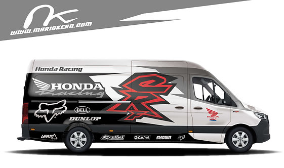 Carwrap HONDA white - MB Sprinte / VW Crafter / IVECO Daily