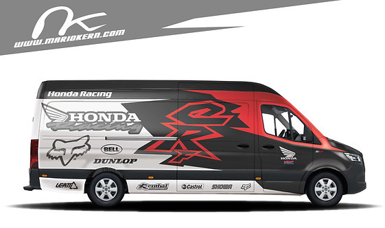 Carwrap HONDA blackwhitered - MB Sprinte / VW Crafter / IVECO Daily