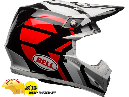BELL MOTO-9 MIPS DISTRICT / White/Black/Red