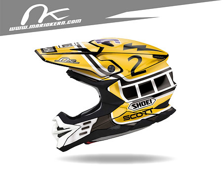 SHOEI VFX-WR ab 2018- / Bob Hannah Jet-Fake Replica Edition
