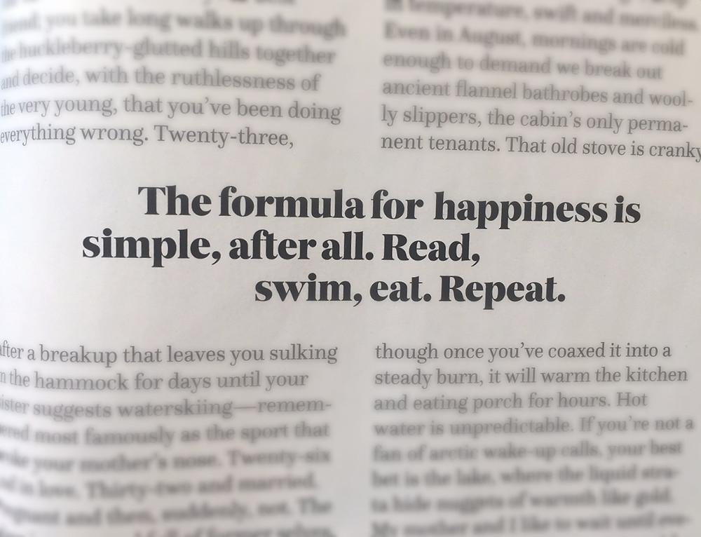 Summer Prep: Read, Swim, Eat. Repeat.