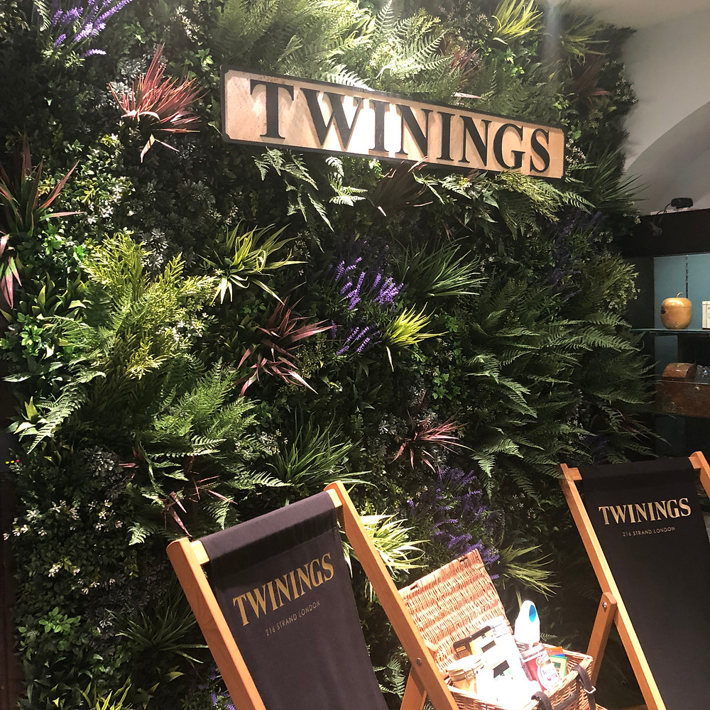 Twinings summer decoration within the Twinings Tea Shop