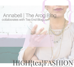 HIGH{tea}FASHION: Annabell from The Arog Blog inspired by Genmaicha Green Tea with Toasted Rice