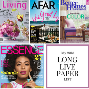 4 New Magazines Subscriptions for Long Live Paper