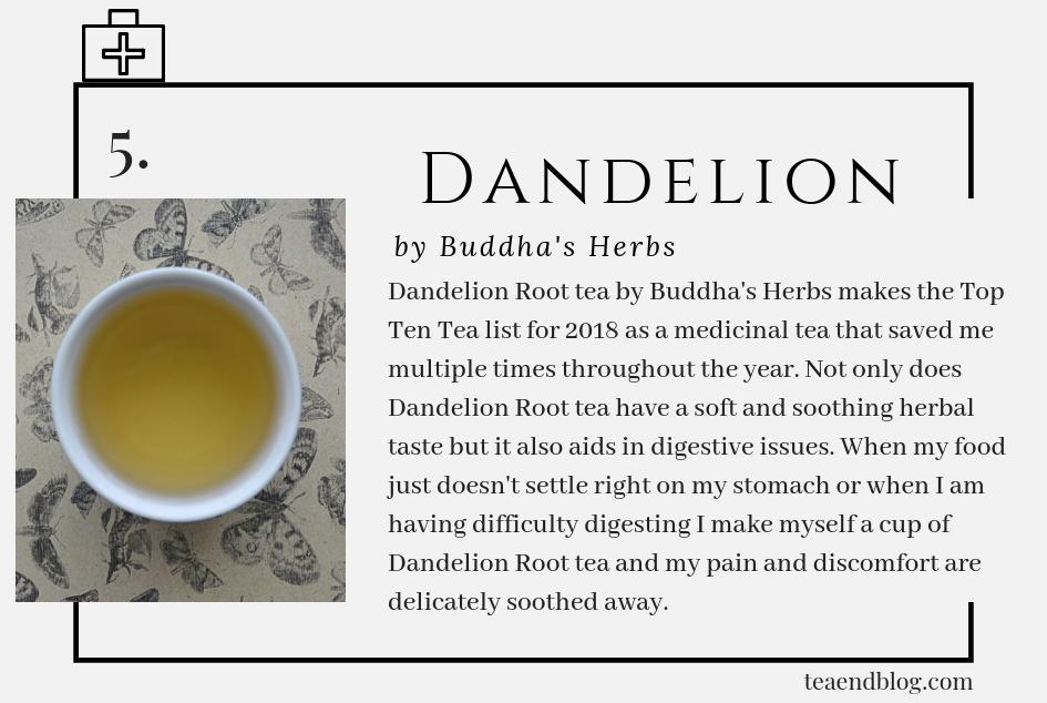Top Ten Teas of 2019: Dandelion Root Tea by Buddha's Herbs