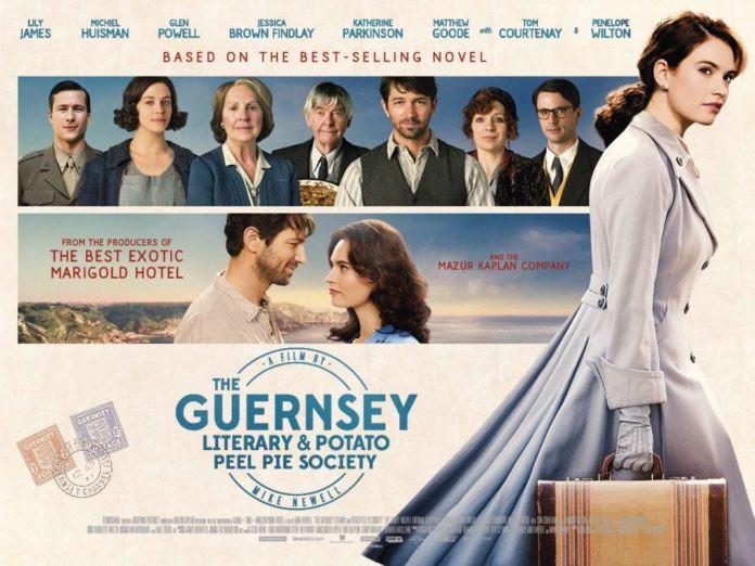 The Guernsey Literary & Potato Peel Pie Society movie graphic