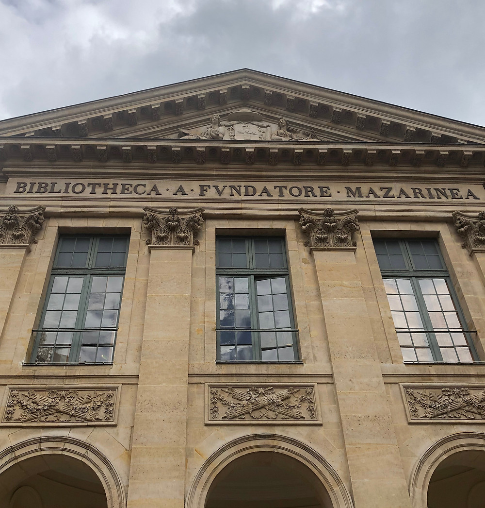 The entrance to The Mazarin Public Library