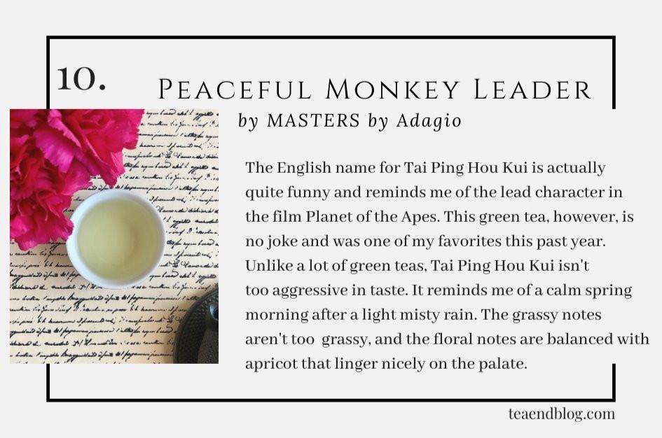 Top Ten Teas of 2019: Peaceful Monkey Leader by MASTERS by Adagio
