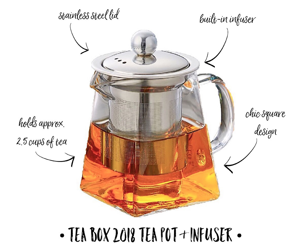 Tea Box 2018 Tea Pot & Infuser