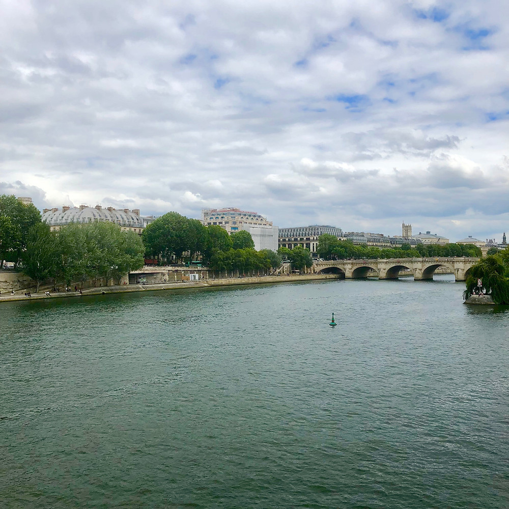 Pont des Arts leading directly to the Institute of France