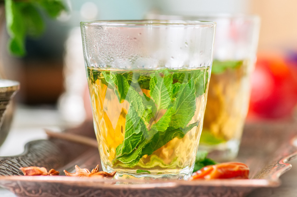 Moroccan Mint Tea with Orange Blossom Water