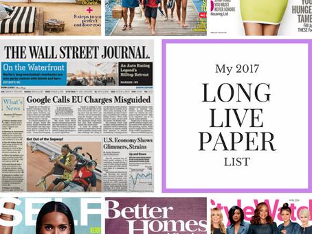 Long Live Paper | 2017