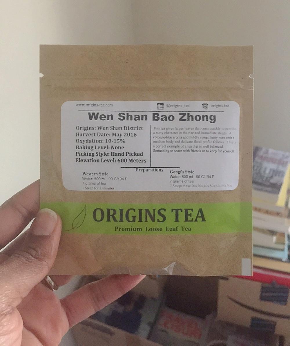 THE SIP: Wen Shan Bao Zhong | Origins Tea