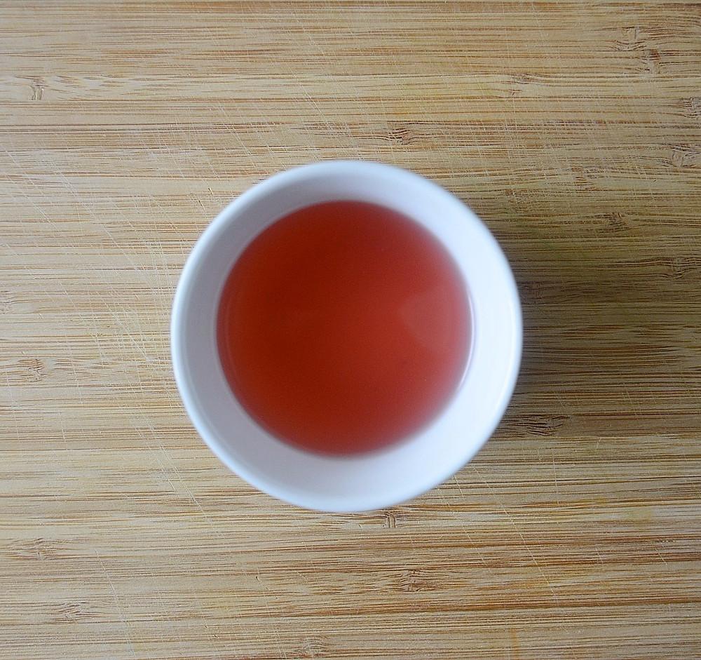 Purple Tea by JusTea after lemon juice is added
